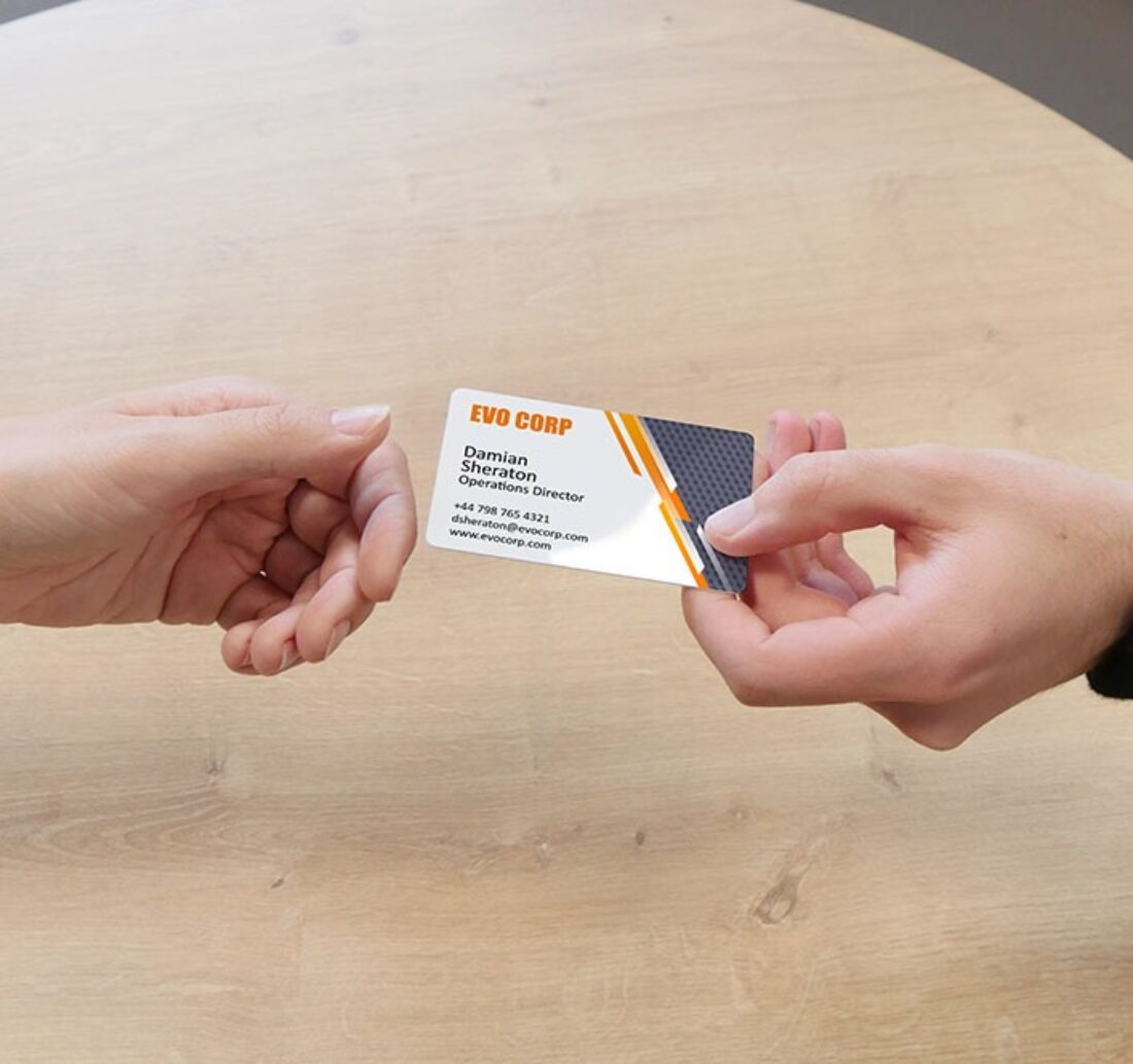 personalized business card with the Badgy printer